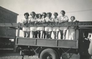 157england crewon lorry shirleywearing sillyhat